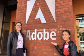 「Kids Creator's Studio」第2期生の岡村有沙さんがAdobe米国本社でプレゼン!