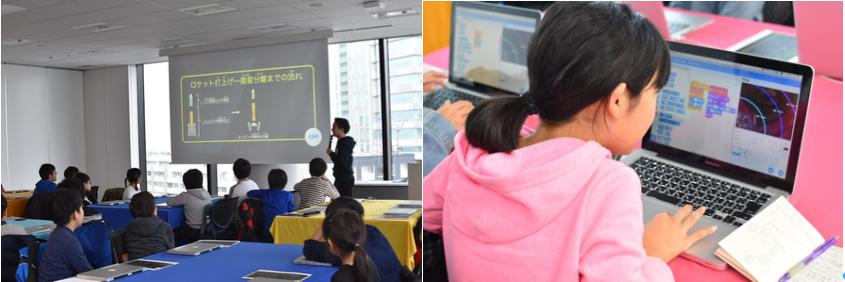 2020年2月にTech Kids Schoolが実施した模擬授業の様子